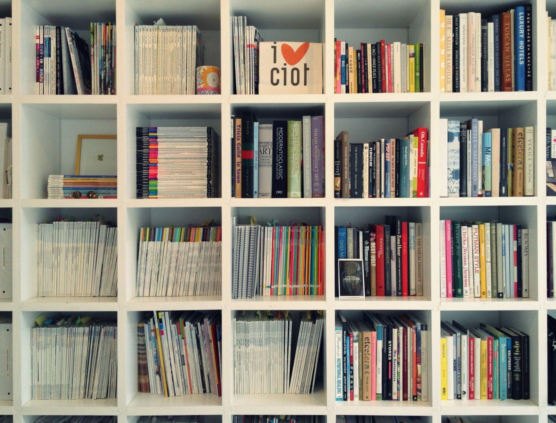 Great Bookshelf And Book Display.