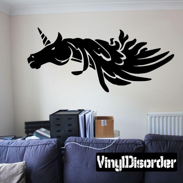 Unicorn Wall Decal - Vinyl Decal - Car Decal - DC006