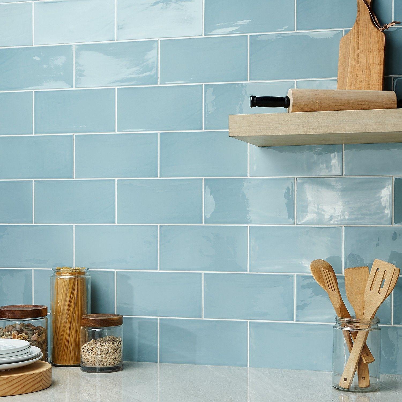 aruba blue 5x10 ceramic wall tile