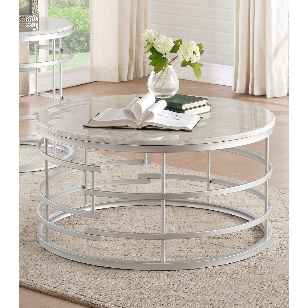 Round Marble And Silver Coffee Table Brassica Rc Willey Furniture Store Silver Coffee Table Coffee Table Round Coffee Table Living Room [ 1000 x 1000 Pixel ]