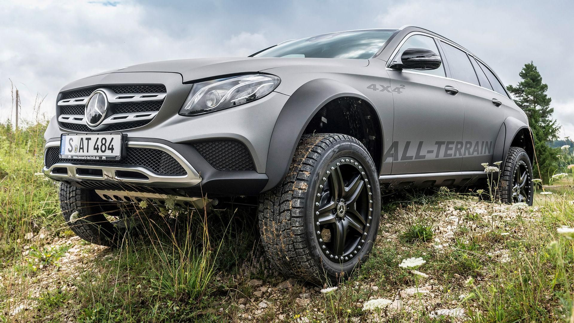 10 images with the hardcore mercedes e-class all-terrain 4x4², a