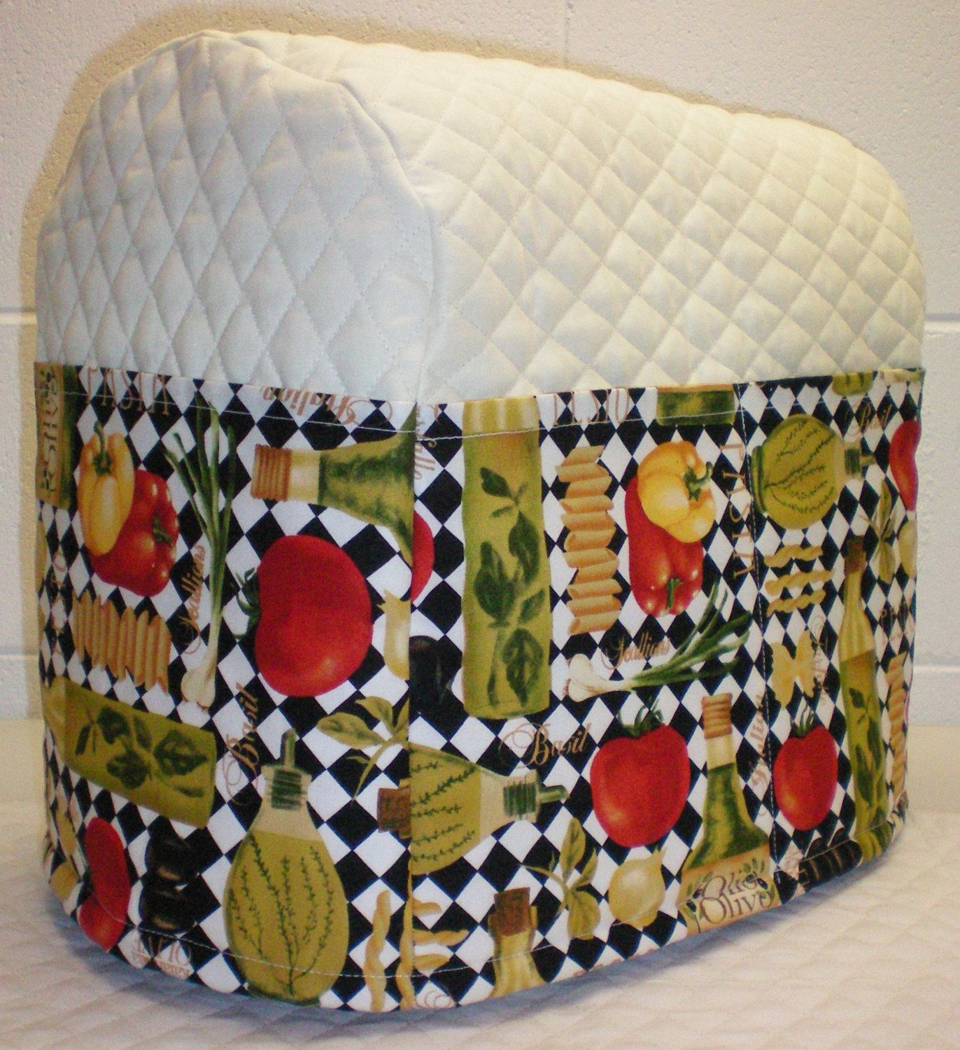 Cream Quilted Italian Kitchen Theme Cover For 4 5 And 5qt