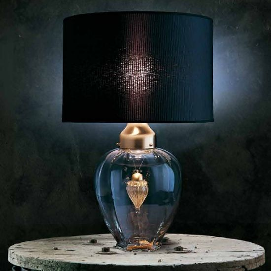 Crystal Table Lamps With Black Shade Italian Table Lamp Black