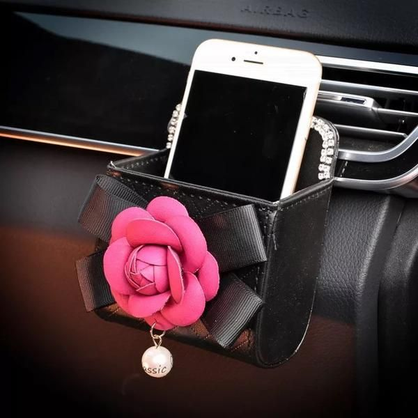 Car Cell Phone Holder - Bling with Camellia   Car cell phone holder ...