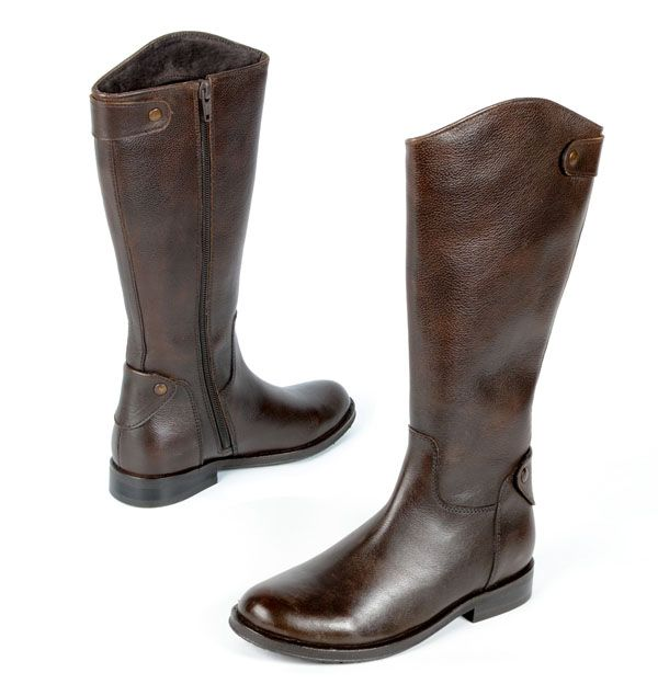 Pazitos' must-have fall 2013 boot: the Calvary Boot which is crafted in kid leather with a snap on the back. Available in black and brown. www.pazitosinc.com