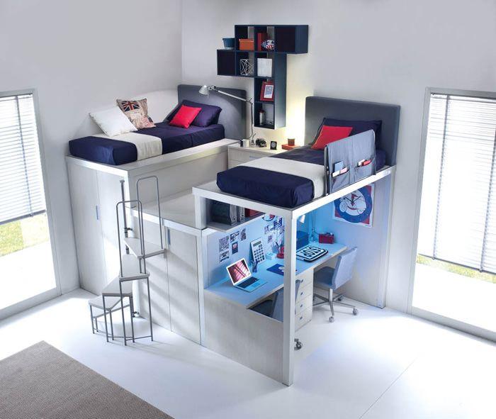 Amueblar y decorar las habitaciones juveniles pequeñas es un reto ...