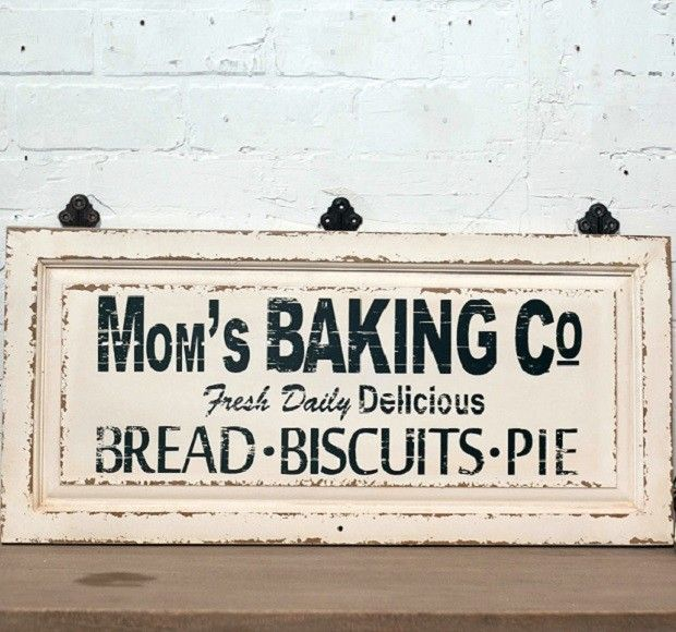Mom S Baking Co Kitchen Sign Antiquefarmhouse Com Wooden