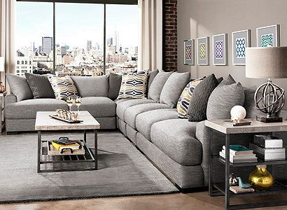 Leighton Contemporary Living Room Collection   Design Tips U0026 Ideas   Raymour  And Flanigan Furniture