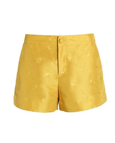 Swan Embroidery Ginger Hot Pants @yoyomelodydress