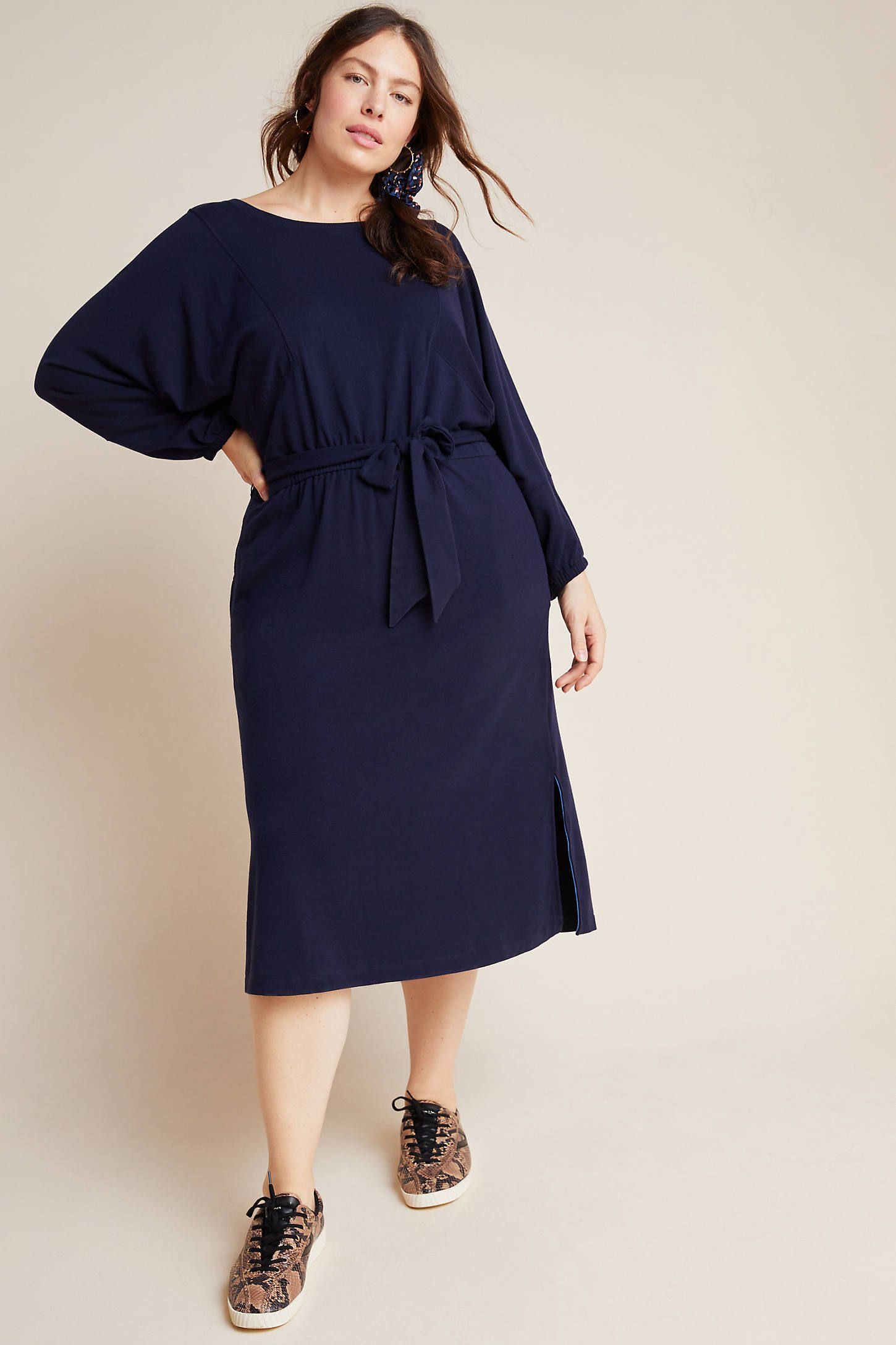 Plus Size Anthropologie Thalia Midikleid in Blau Größe: 3 X, Damenkleider   – Products