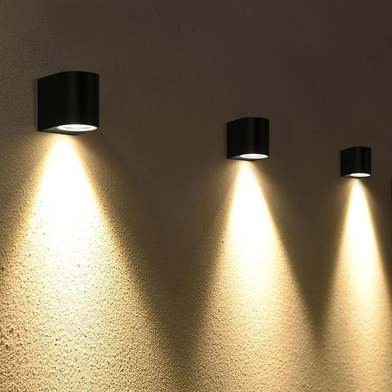 Villa Sconce Black Color Outdoor Waterproof Led Wall Lamp Up