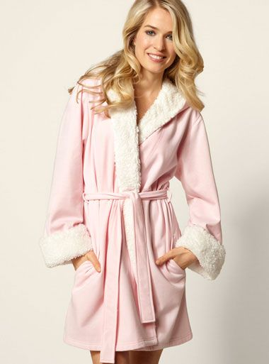 Love Shack Hooded Sherpa Robe Pink Mix Boux Avenue Pajamas
