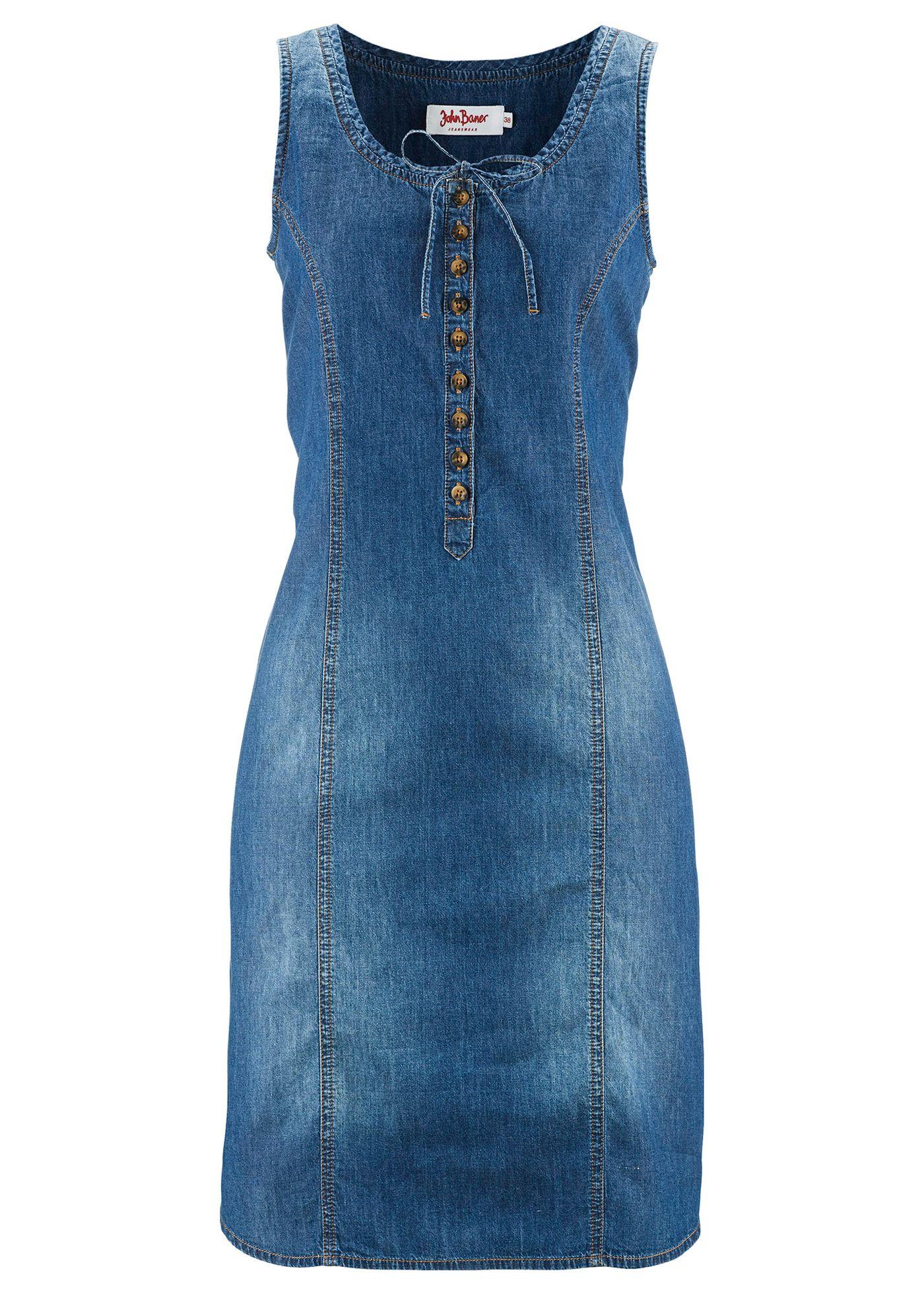 La robe en jean évasée, John Baner JEANSWEAR bon prix dommage elle taille beaucoup trop grand