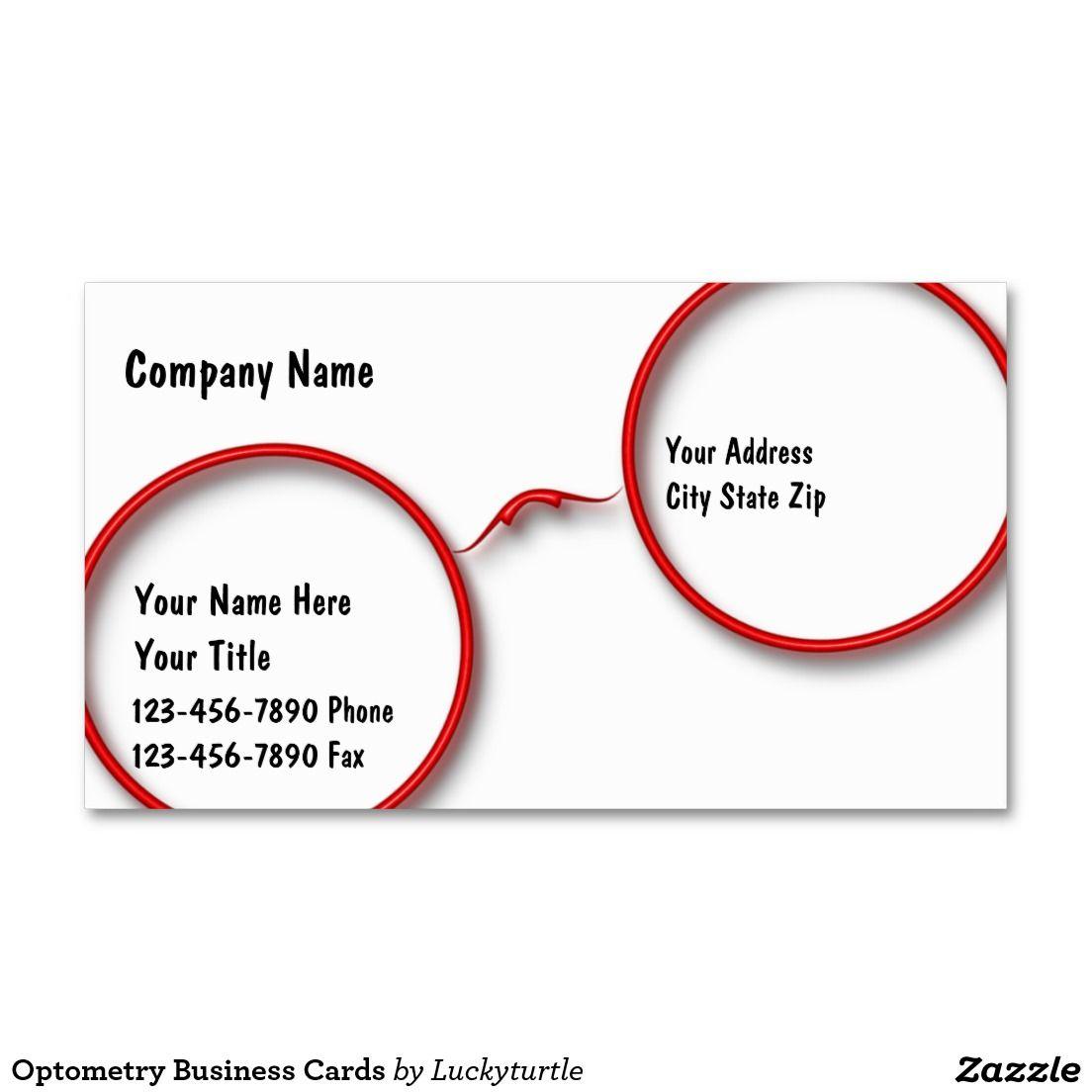 Optometry Business Cards   Optical   Pinterest   Ótica e Diversão 92ae74ee07
