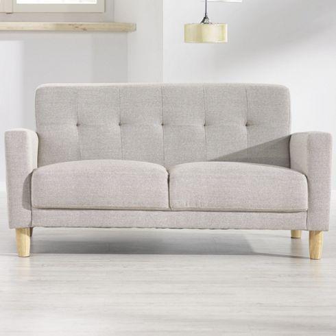 Trendiges Sofa in elegantem Hellgrau - Sitzkomfort im sachlichen Design