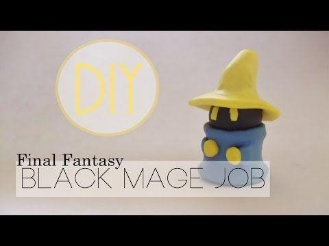 Final Fantasy Black Mage Tutorial [Polymer Clay ^_^] - YouTube