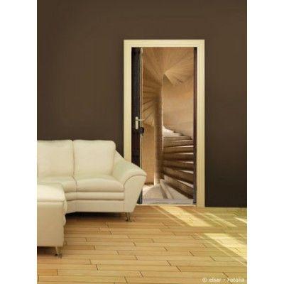 sticker trompe l 39 oeil de portes escalier vis trompe l 39 il pinterest tromp e vis et yeux. Black Bedroom Furniture Sets. Home Design Ideas