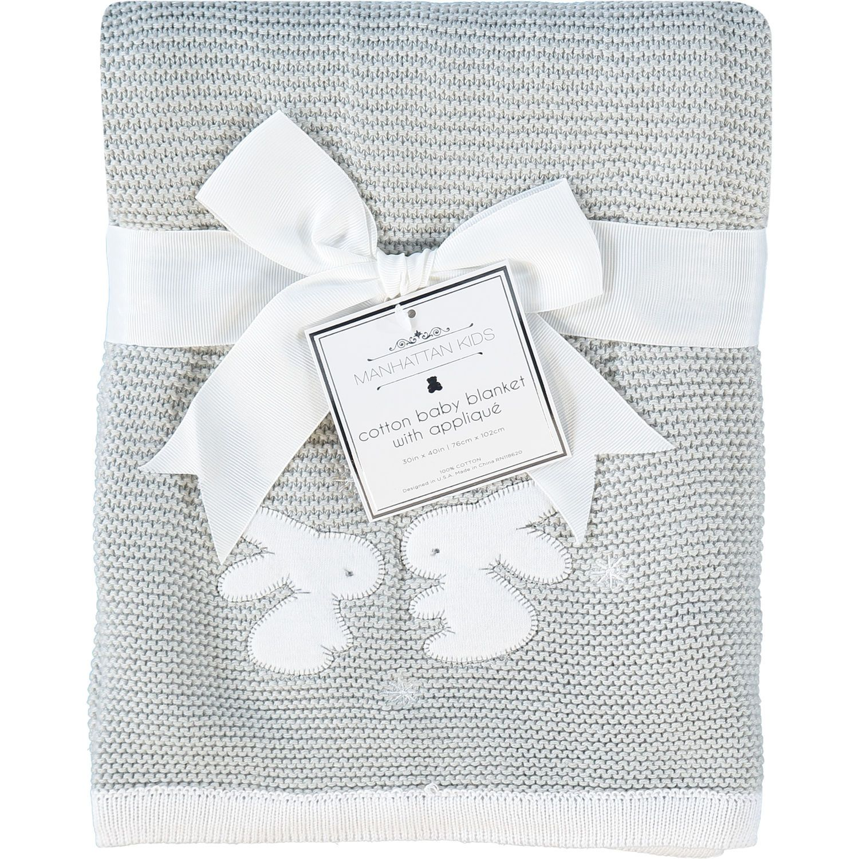 Grey Bunny Knitted Baby Blanket - Baby   Nursery - Kids - TK Maxx ... 08d749a08