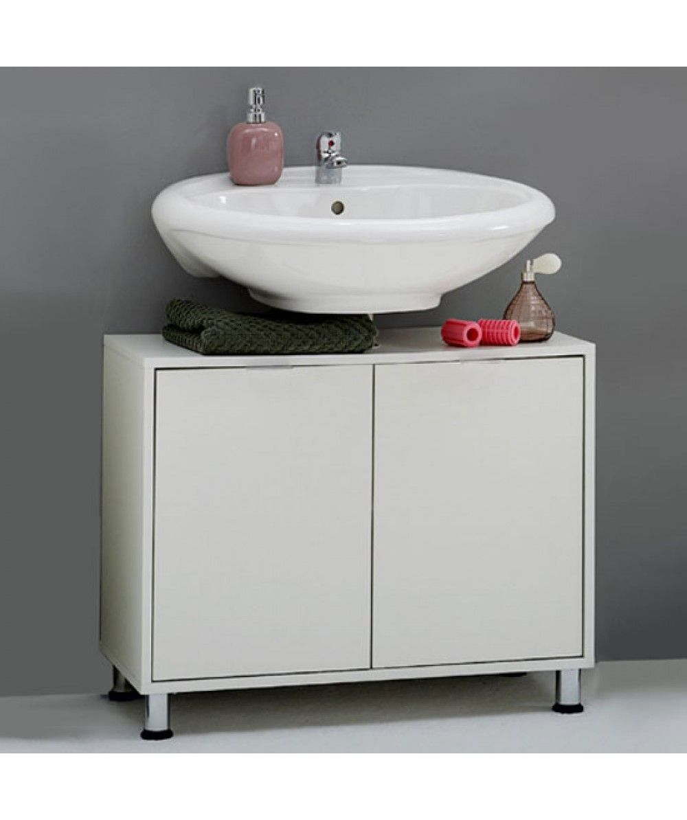 Zamora 4 White Modern Bathroom Vanity Without Wash Basin Is A