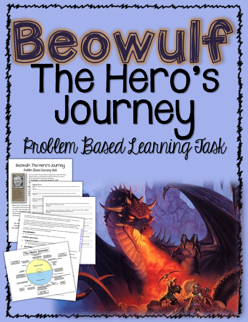"""Beowulf: Problem Based Learning Task, """"The Hero's Journey"""" ($) Teaching"""