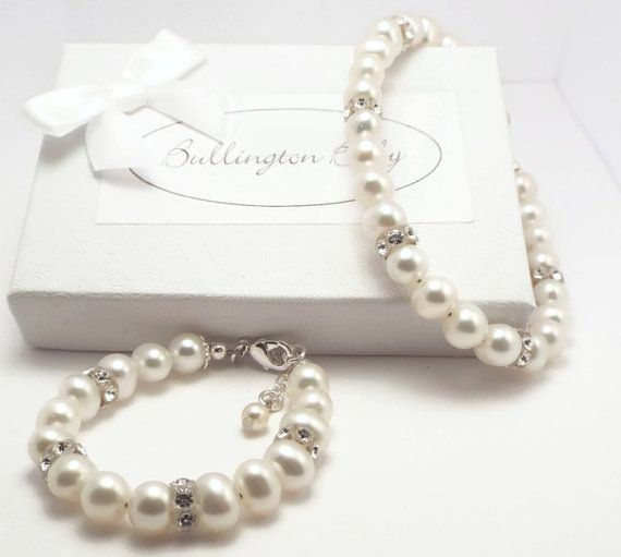 Mother Daughter Pearl Bracelet Set Matching Freshwater Baby Mommy And Me Bracelets S3