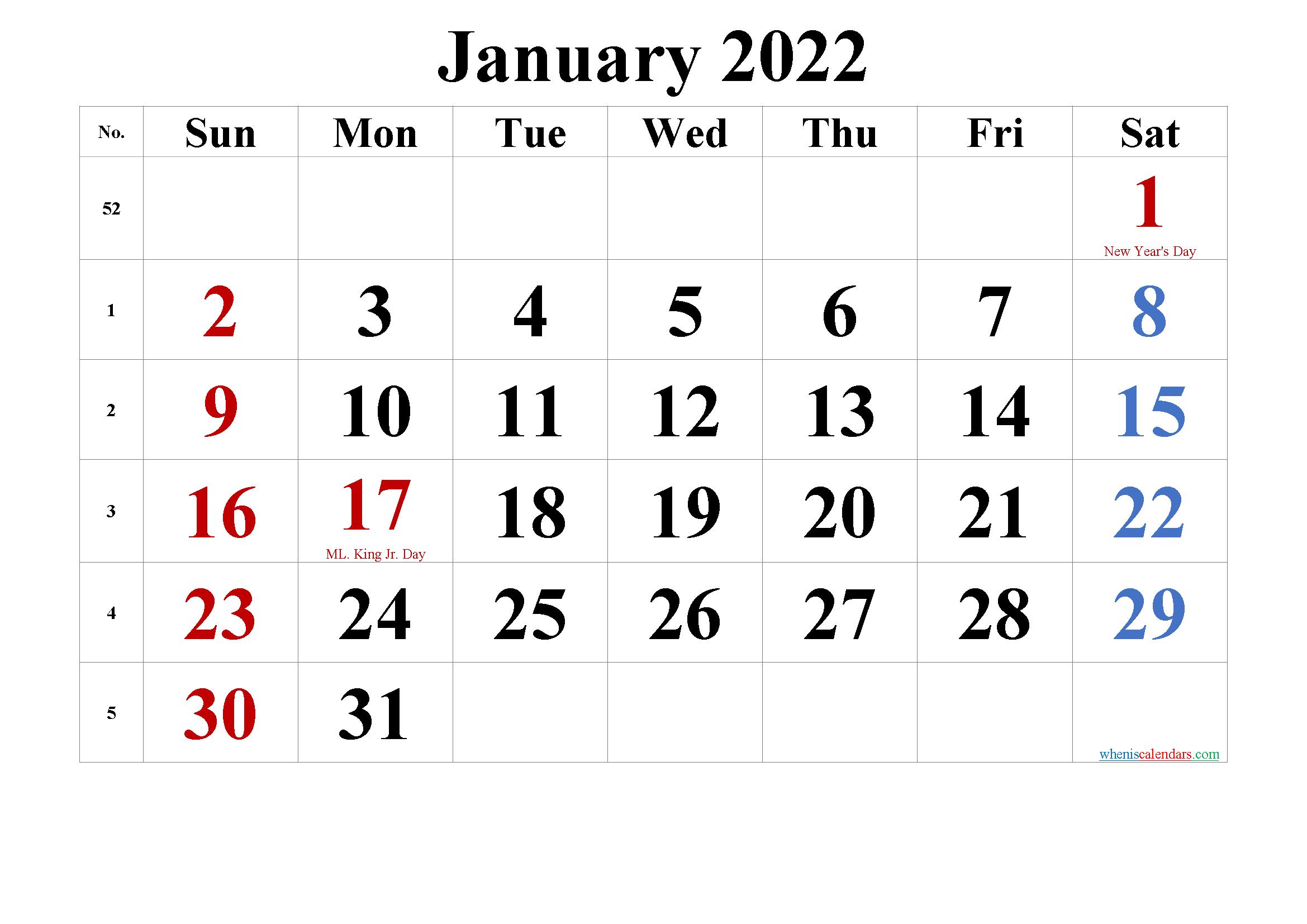 Free Printable January 2022 Calendar Pdf And Png Calendar Printables Calendar Calendar Template