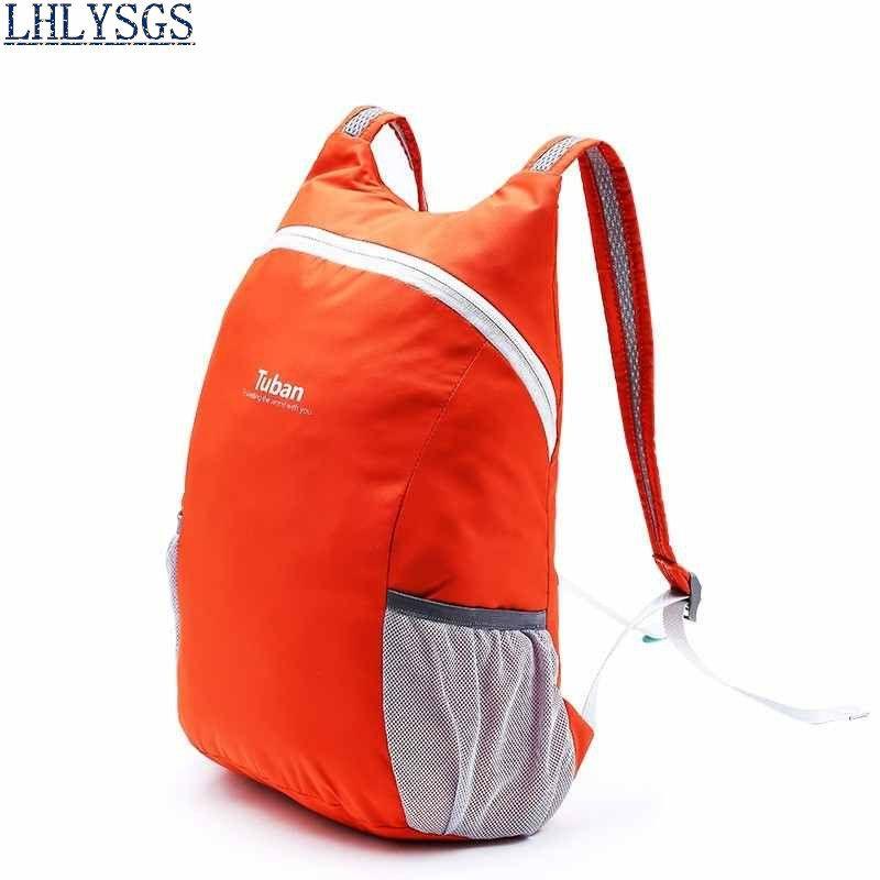 LHLYSGS Brand Women Holographic Clothes Travel Backpack School Bag  Ultralight Skin Bag Folding Casual Daypacks Hologram 9afdfba50089b