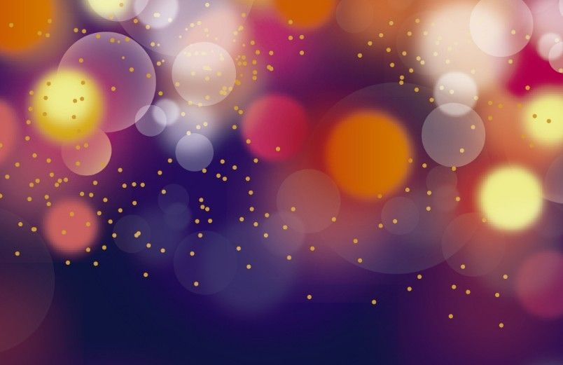 Free Colorful Lights Bokeh Background Vector   Sky   Bokeh