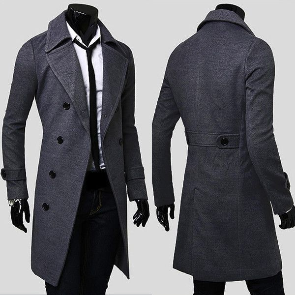 6651f6987d32f Men s Double Breasted Winter Trench Coat – Dropzone.co.nz