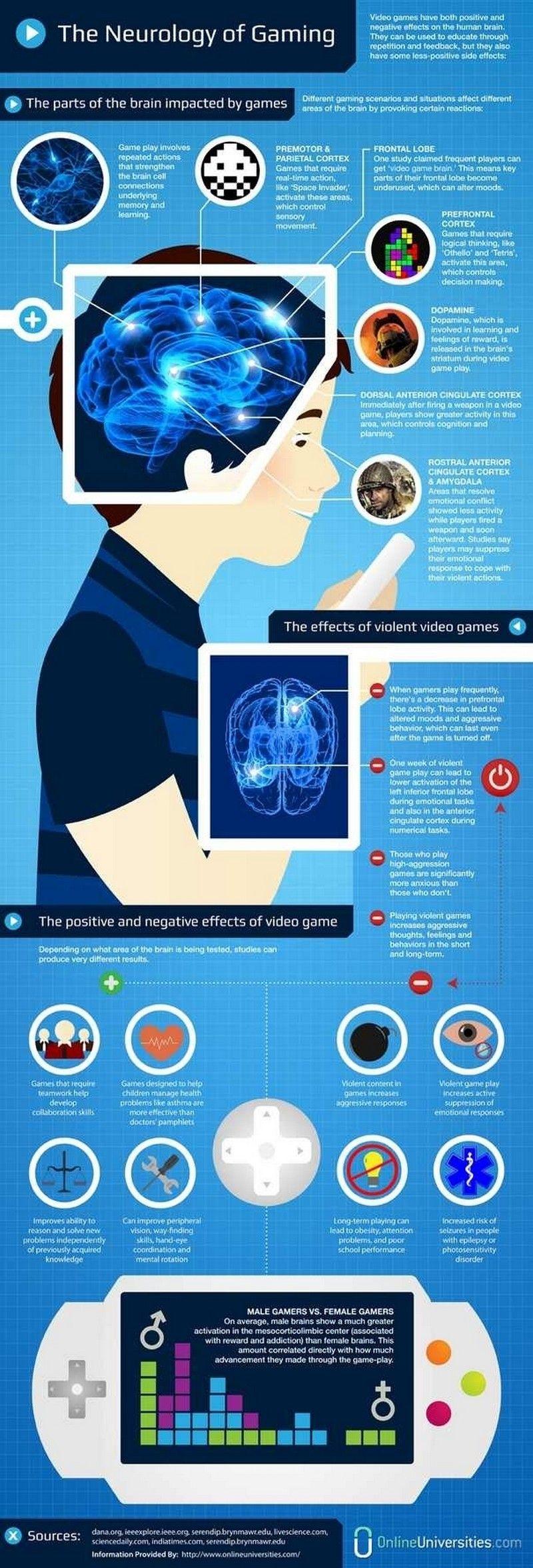 The Neurology of Gaming   Everything Marketing   Pinterest   Gaming