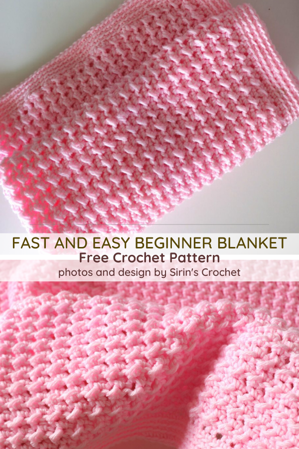 Fast And Easy Crochet Baby Blanket For Beginners - Knit And Crochet Daily