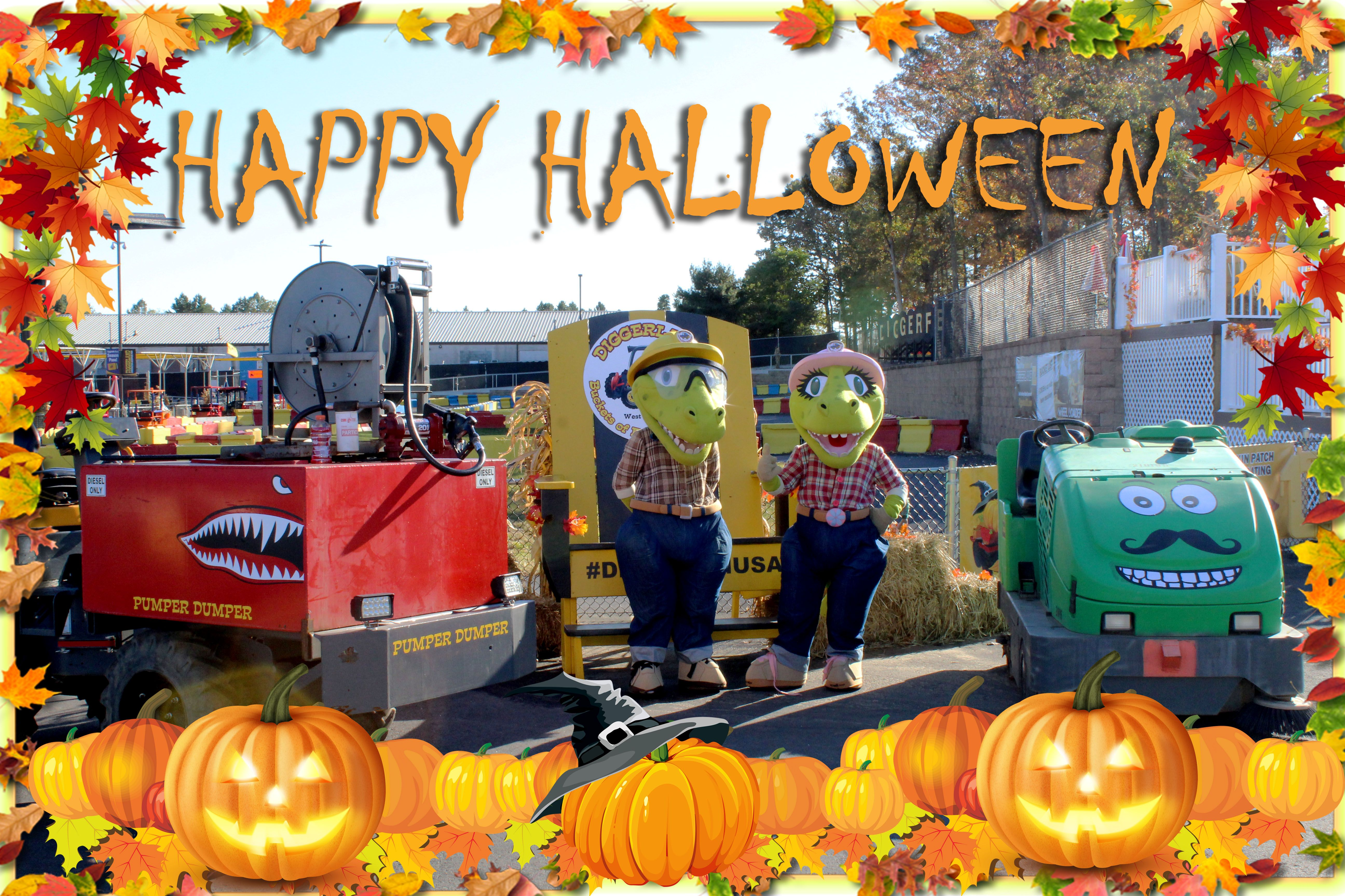 Happy Halloween from DRex, Daisy, Sammy the Sweeper, the