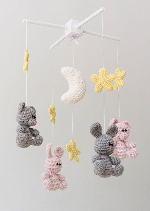 Carrusel conejos | Cosas de Crochet | Pinterest | Ganchillo bebe ...