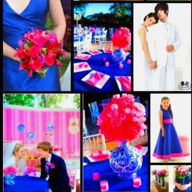 Royal Blue And Fuschia Pink Wedding | Wedding Ideas