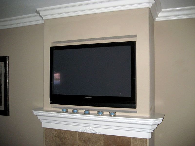 Fireplace Design tv over fireplace ideas : TV over fireplace...hmmm tv looks bigger than the fireplace ...