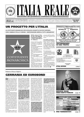 ITALIA REALE SETTEMBRE 2012