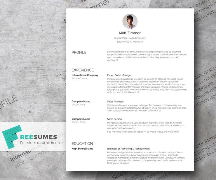 Spick And Span  A Clean Resume Template Freebie  Cv Template