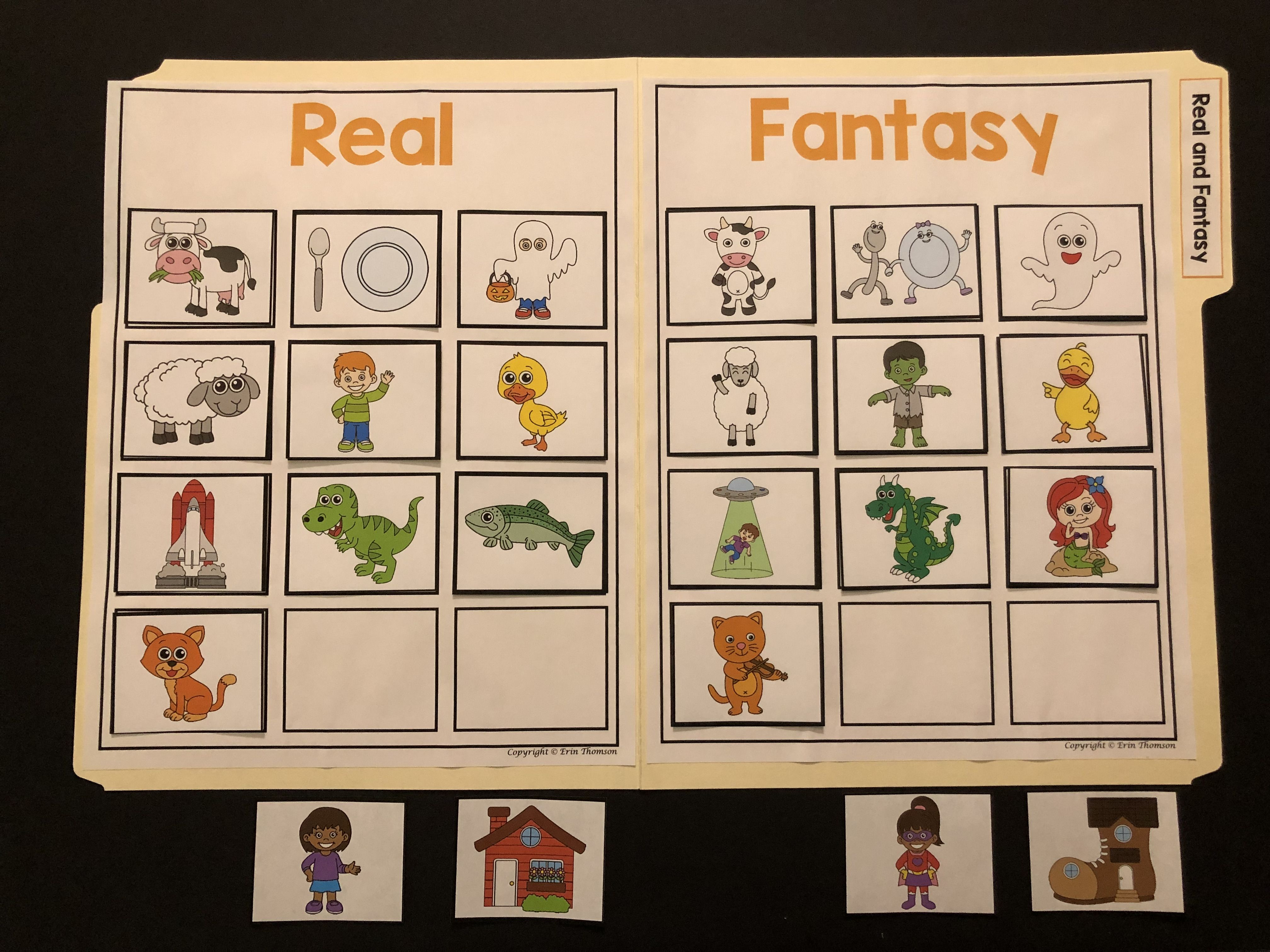 Real And Fantasy Sorting Real And Make Believe Characters And Settings File Folder Activities Kindergarten Language Arts Character And Setting [ 3024 x 4032 Pixel ]