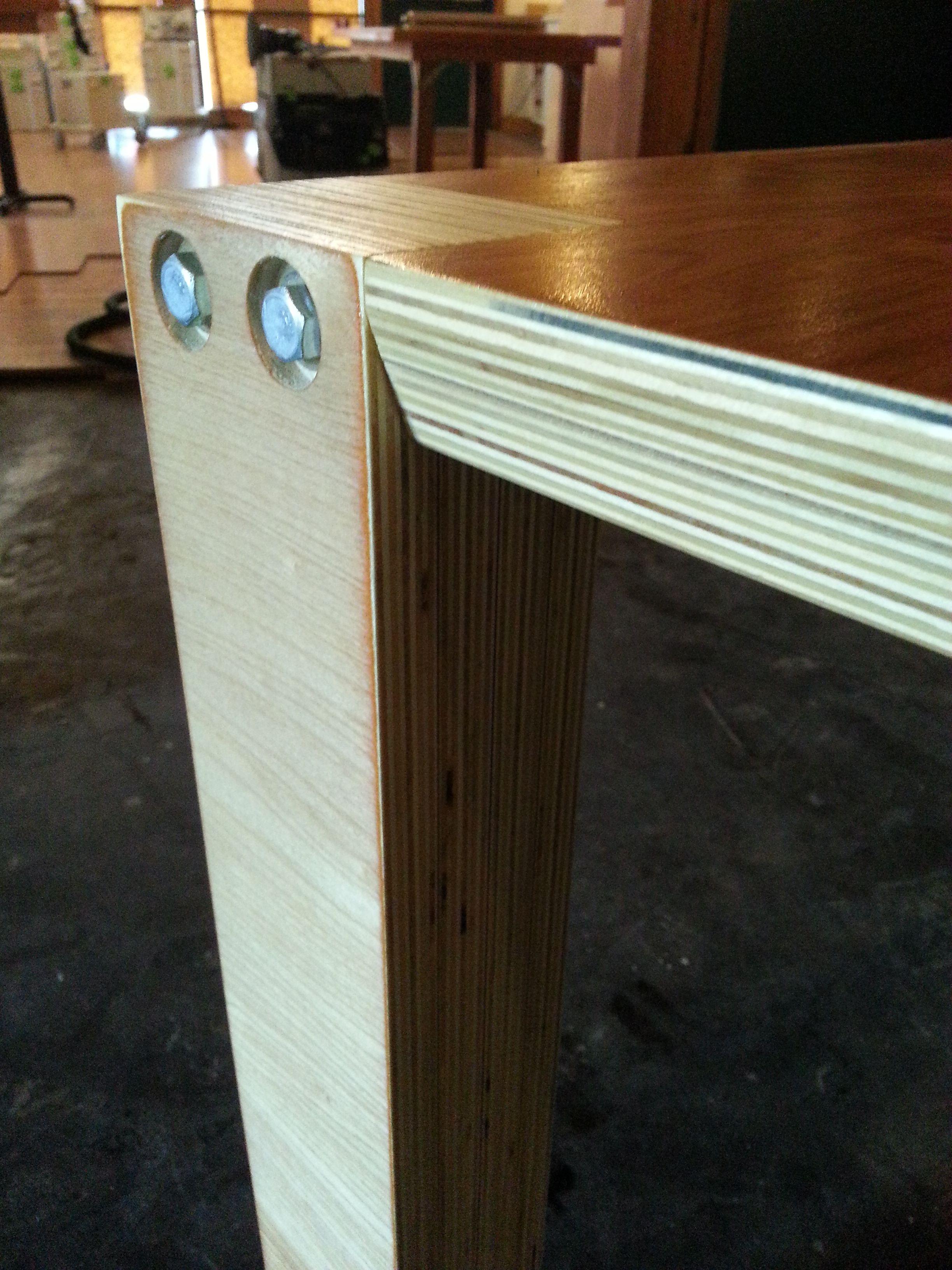 Laminated Birch Plywood Lag Bolts Festool Finishing 36 X 36 X