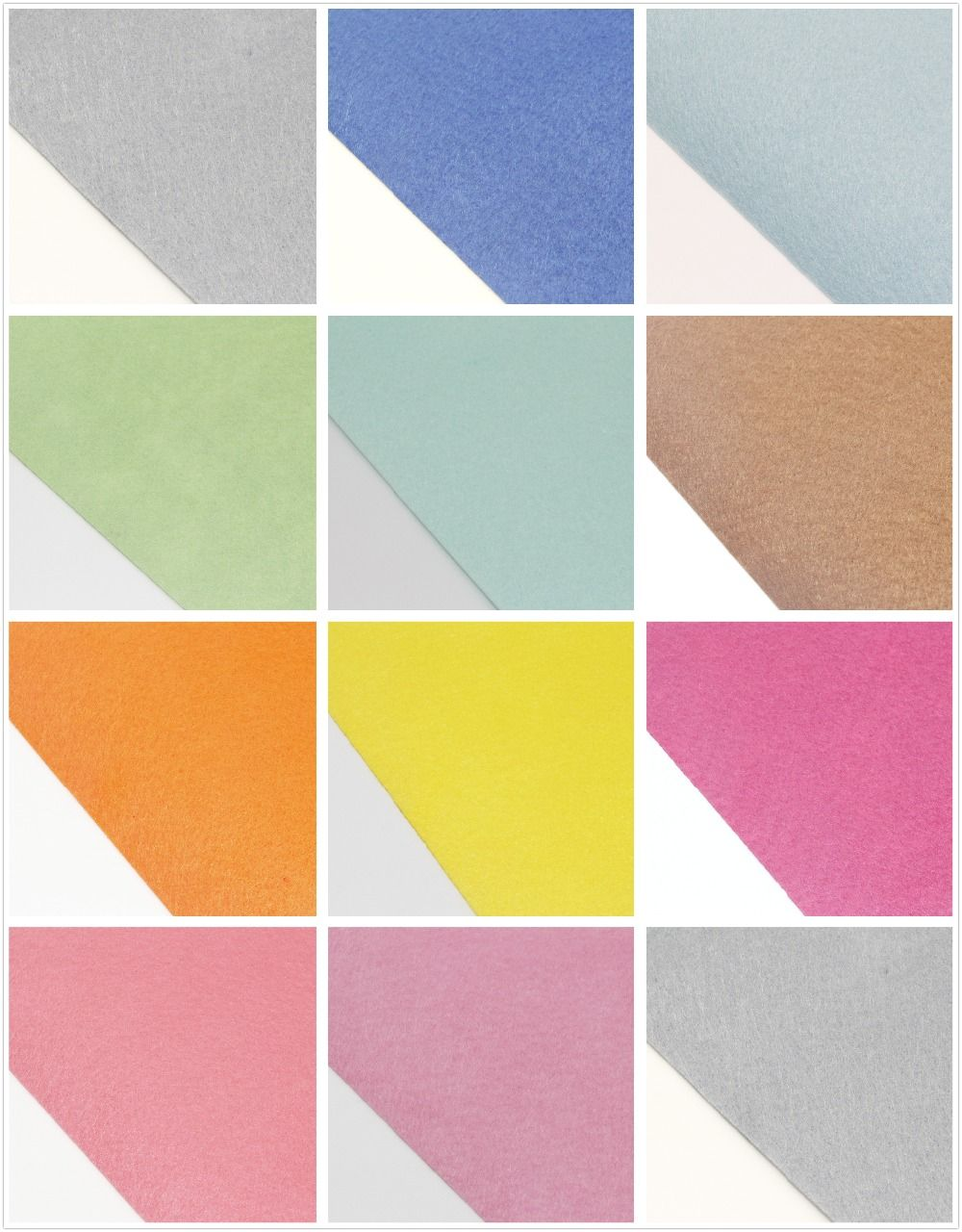 Diy felt fabric colors set each xcmcan choose colorwith