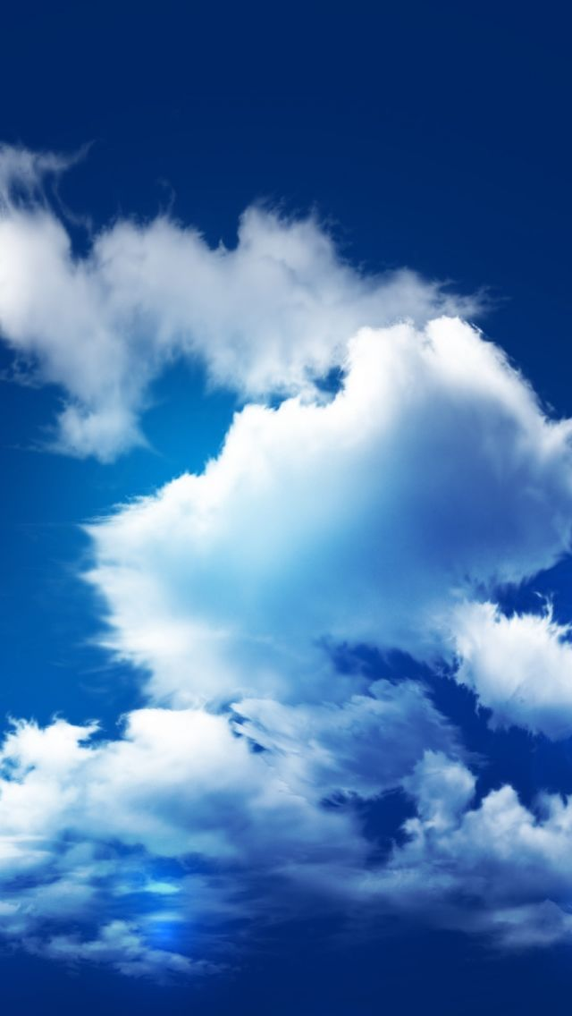 Blue Sky And Clouds Iphone wallpaper sky, Sky and clouds