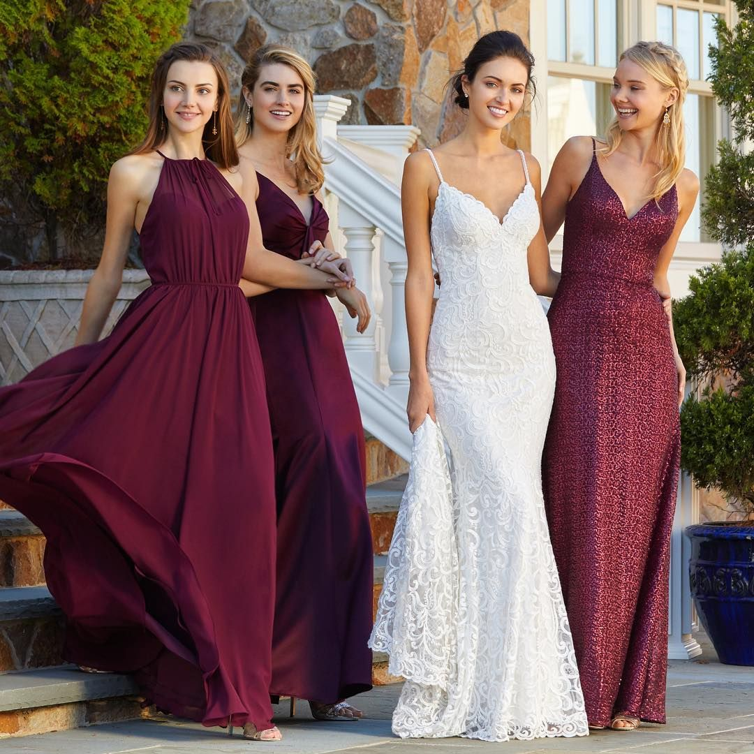 Mori Lee Bridal Gown And Bridesmaids Color: Bordeaux