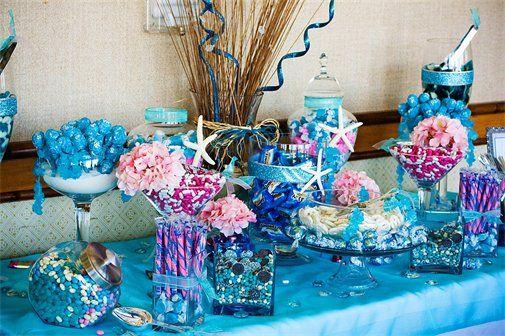 sun and seashells candy buffet