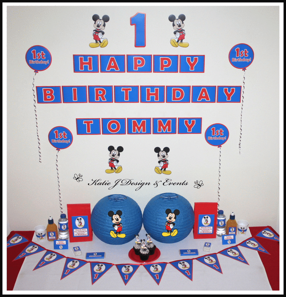 Mickey mouse (blue) | Mickey mouse, Mickey mouse parties and Mouse ...
