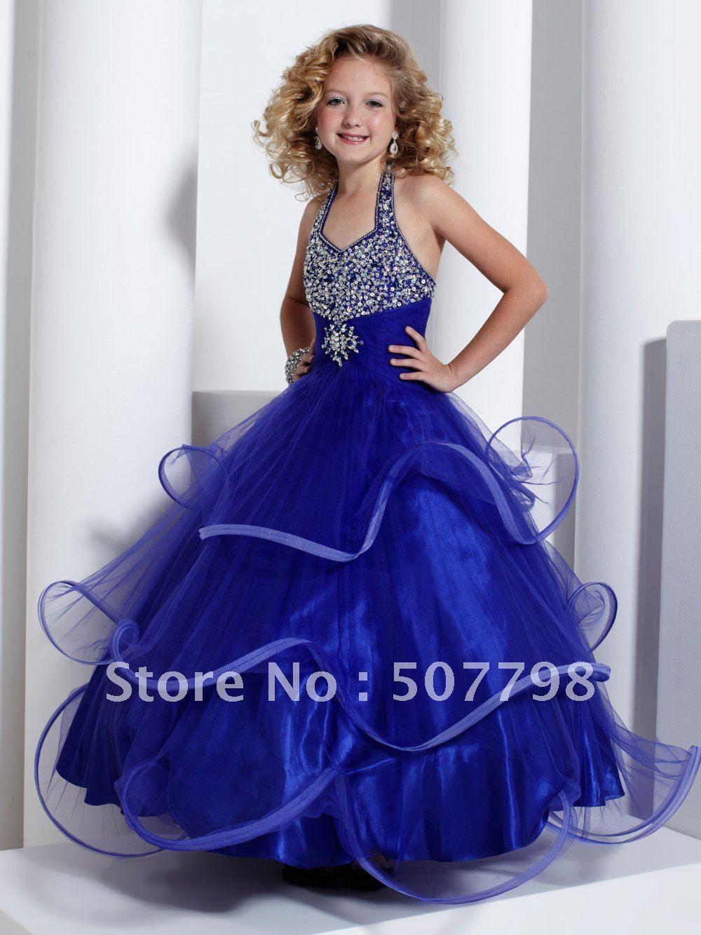 Aliexpress Buy Tiffany Princess Girl Dress Blue halter | детки ...