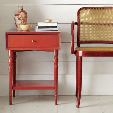 Superb Turned Leg Nightstand, Vermillion   Modern   Nightstands And Bedside Tables    West Elm Good Looking