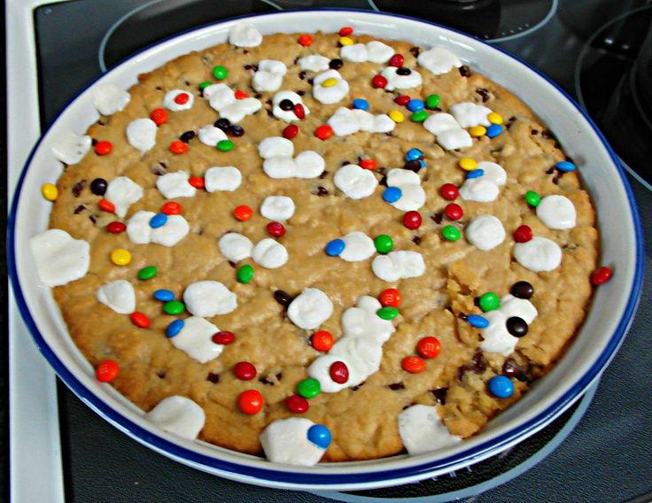 Chocolate Chip Cookie Dessert Pizza.