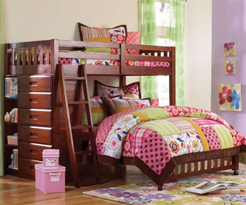 Best Low L Shaped Bunk Bed With Bookshelves And Storage 400 x 300