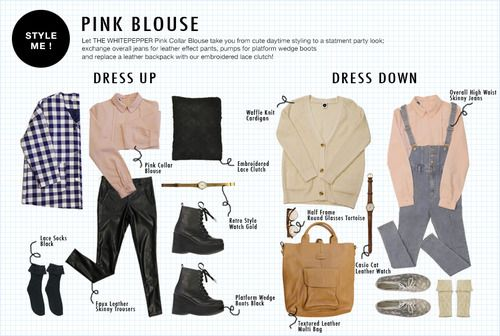 A pink blouse