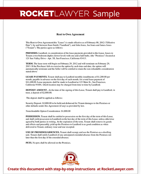 rent to own agreement re rent to own pinterest sample resume